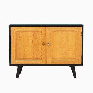 Vintage Danish Black Ash Cabinet, 1970s