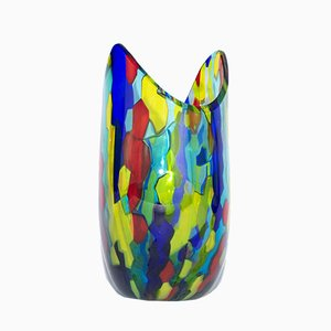 Wave Vase in Murano Glass by Valter Rossi for VRM