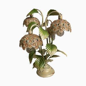 Vintage Blumen Tischlampe, 1960er