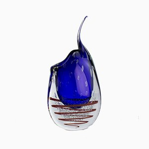 Spiral Vase Colibrì in Murano Glass by Valter Rossi for VRM