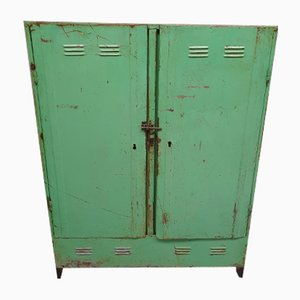 Vintage Industrial Locker Cabinet