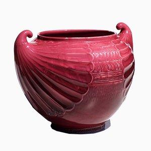 Vaso Jugendstil antico in ceramica di Christopher Dresser per SCI Laveno, inizio XX secolo