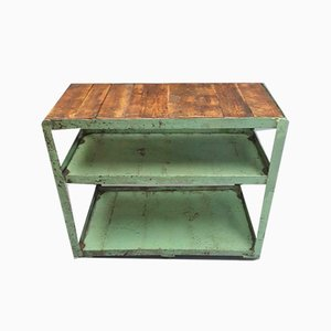 Industrial Green Shelving Unit TV Cabinet, 1970s