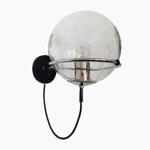 Lampada da parete Space Age in vetro bolle di Raak, anni '60