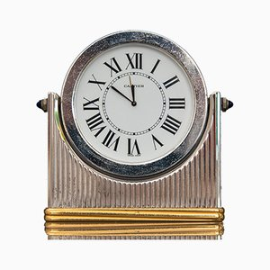 Vintage Table Clock by Must de Cartier, 1940s