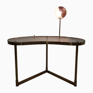 Mid-Century Table with Built-in Light