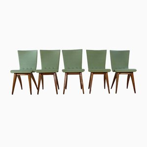 Upholstered Swing Chairs by G. van Os, 1958, Set of 5
