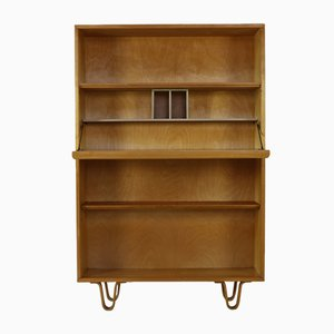 Birchwood Secretaire Storage Cabinet by Cees Braakman for UMS Pastoe, 1950s