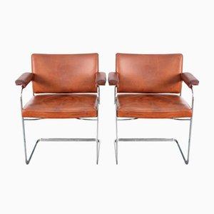 Chaises de Bureau RH305 Mid-Century par Robert Haussmann pour de Sede, Set de 2