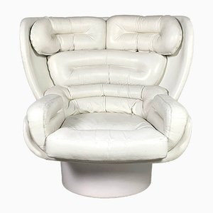 White Elda Lounge Chair by Joe Colombo for Comfort Italy, 1960s