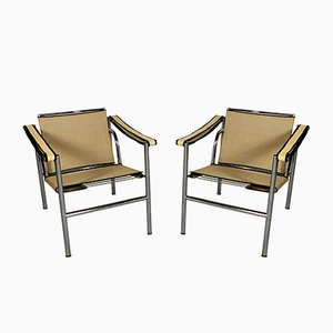Beige LC1 Armchairs by Le Corbusier for Cassina, 1970s, Set of 2