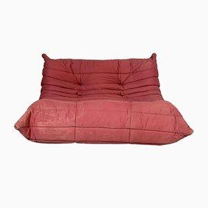 Pinkes Togo 2-Sitzer Sofa von Michel Ducaroy für Ligne Roset, 1990er