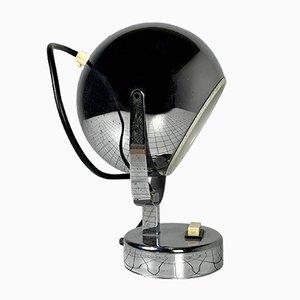 Chromed Globe Lamp, 1980s