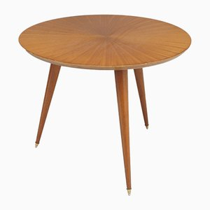 Small Satinwood Coffee Table, 1970s