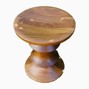 Mid-Century Walnut Stool by Charles & Ray Eames for Vitra