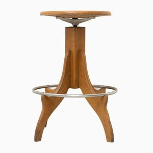 Wooden Stool, 1960s