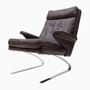 Deutscher Mid-Century Lounge Sessel mit Hoher Rückenlehne von Reinhold Adolf & Hans-Jürgen Schräpfer für Cor, 1960er