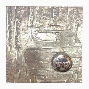 Aluminium Wandleuchte, 1970er