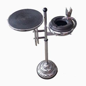 Französischer Art Déco Tisch aus verchromtem Stahl, 1930er