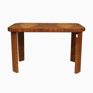 Italian Art Deco Style Coffee Table in Walnut, 1950s