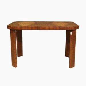 Italian Art Deco Style Coffee Table in Walnut, 1950s