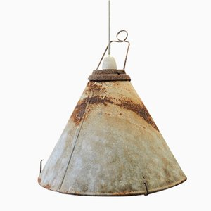 Mid-Century Industrial Metal Ceiling Lamp, 1950s