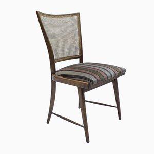 Deutsche Mid-Century Esszimmerstühle aus Korbgeflecht, 1950er, 2er Set
