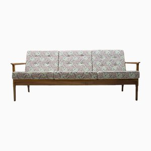 Mid-Century Scandinavian 3-Seat Sofa in Cherry, 1960s
