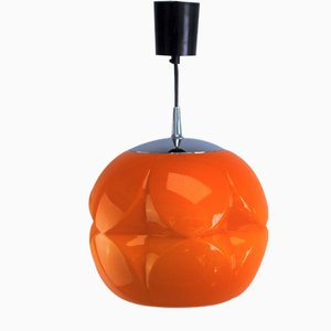 Orange Ceiling Lamp from Peill & Putzler, 1970s