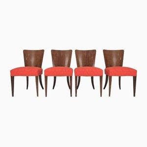 Chaises de Salon Art Déco par Jindřich Halabala, 1940s, Set de 4