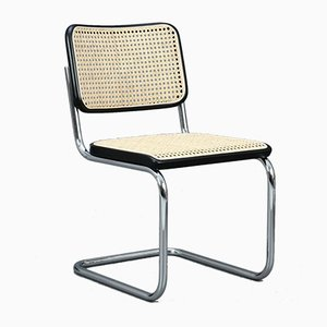 Bauhaus Black S 32 Cantilever Chair by Marcel Breuer for Thonet