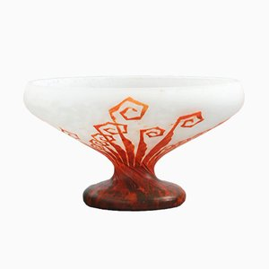 Art Deco Fougeres Cameo Glass Vase by Charles Schneider for Le Verre Francais, 1930s