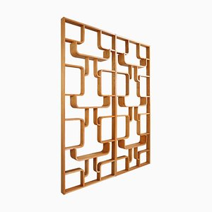 Mid-Century Room Divider Shelves in Blond Bentwood by Ludvik Volak for TON, Prague, 1960s, Set of 2