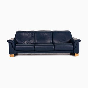 Blue Leather Paradise 3-Seat Sofa from Stressless