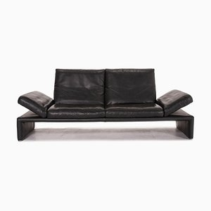 Anthracite Grey Leather Raoul 3-Seat Function Sofa from Koinor