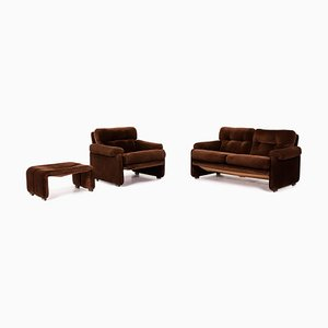 Brown Fabric Coronado Sofa Set from B&B Italia, Set of 3