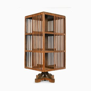 Wooden Movable Bookcase