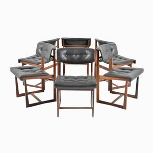 Danish Rosewood Dining Chairs, 1960s, Set of 6