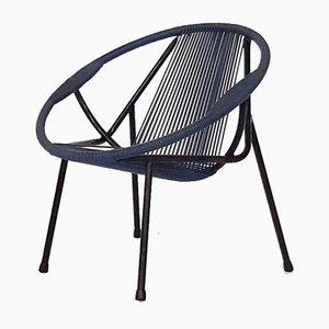 Club chair Mid-Century in faggio e plastica, anni '60