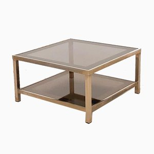 Hollywood Regency 23 Carat Gold-Plated Coffee Table, 1970s