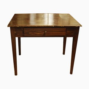 Italienischer Tisch im rustikalen Stil aus Tannenholz, 1880er