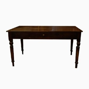 Italian Long Rustic Pine Table, 1880s