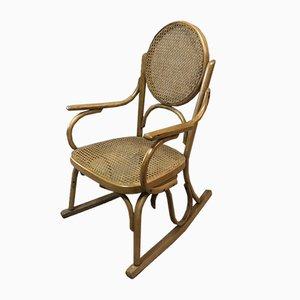 Sedia a dondolo in stile Thonet, anni '20