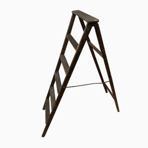 Antique Folding Library Ladder