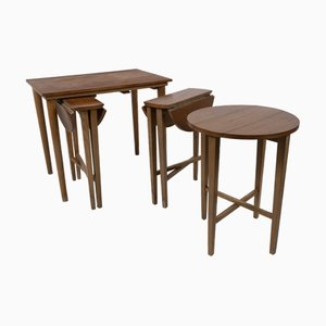 Nesting Tables by Poul Hundevad for Novy Domov, 1960s, Set of 4