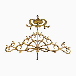 Antique Gold-Plated and Cast Brass Applications, Set of 2