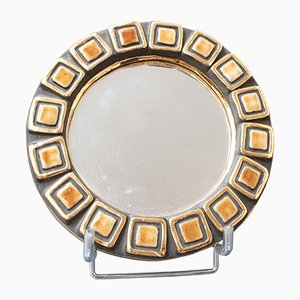 Ceramic Wall Mirror by Mithé Espelt, 1952