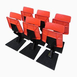 Folding Cinema Seats, 1970s, Set of 6