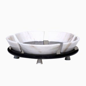 Italian Postmodern Marble Fruit Bowl by Sergio Asti for Up & Up, 1980s