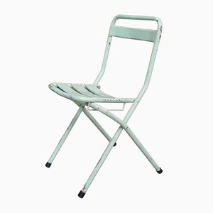 Industrial Steel Folding Chair, 1950s